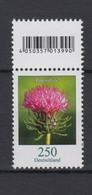 Bund 3199 EAN-Code Oben Rollenmarke Blumen Alpendistel 250 C Postfrisch - BRD