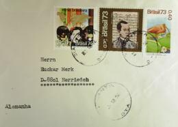 Brasilien Bedarfsbrief Nach Deutschland Zum Thema Hautfarben Bzw. Barockmusik 1974 - Brasilien