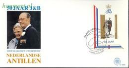 Netherlands Antilles 1987 Mi Bl 31 FDC ( FDC ZS2 DTAbl31 ) - Familles Royales