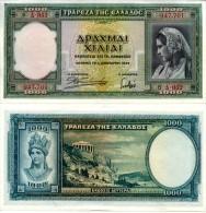 GREECE 1000 Drachmai 1939 P 110 UNC - Griekenland