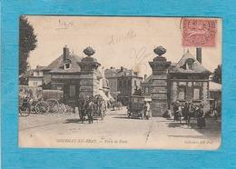 Gournay-en-Bray. - La Porte De Paris. - Café-Restaurant. - Attelage. - Gournay-en-Bray