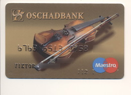 Credit Card Music Violin Bankcard Oschadbank Bank UKRAINE Maestro Expired - Carte Di Credito (scadenza Min. 10 Anni)