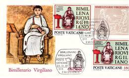 Fdc Roma Vaticano: VIRGILIO (1981); No Viaggiata - FDC