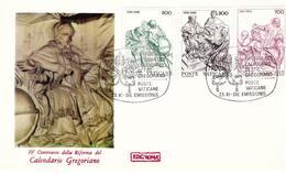 Fdc Roma Vaticano: CALENDARIO GREGORIANO (1981); No Viaggiata - FDC