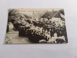 Postkaart  St  Lievens Hauthem 2 Jubelfeest 1908 - België