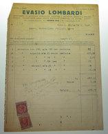 EVASIO LOMBARDI CONIAZIONE MEDAGLIE ARTISTICHE 1930 TASSA DI BOLLO SCAMBI COMMERCIALI CENTESIMI 50 - Italia