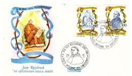Fdc Roma Vaticano: RUYSBROOK (1981); No Viaggiata - FDC