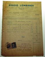 EVASIO LOMBARDI CONIAZIONE MEDAGLIE ARTISTICHE 1930/7 TASSA DI BOLLO SCAMBI COMMERCIALI LIRE 5 - UNA - Italia