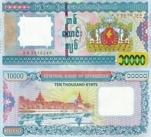 MYANMAR 10000 Kyats  ND ( 2015 ) P 84 UNC - Myanmar