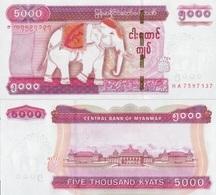 MYANMAR 5000 Kyats  ND ( 2014 ) P 83 UNC - Myanmar