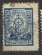Lituania - 1923 - Usato/used - Ordinari - Mi N. 190 - Litauen