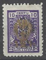 Lituania - 1924 - Nuovo/new MH - Sovrastampati - Mi N. 227 - Lituania