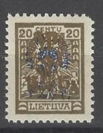 Lituania - 1924 - Nuovo/new MH - Sovrastampati - Mi N. 229 - Litauen