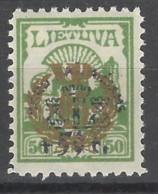 Lituania - 1924 - Nuovo/new MH - Sovrastampati - Mi N. 232 - Litauen