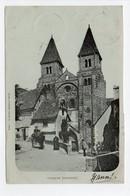 - CPA CONQUES (12) - Eglise 1901 (avec Personnages) - Edition E. Carrère - - Francia