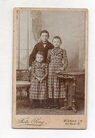Y8178/ CDV Foto  Kinder Geschwister  Atelier Fritz Seng, Wismar  Ca. 1900 - Fotos