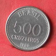 BRAZIL 500 CRUZEIROS 1986 -    KM# 597 - (Nº28449) - Brasile