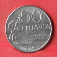 BRAZIL 50 CENTAVOS 1978 -    KM# 580b - (Nº28450) - Brazilië