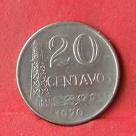 BRAZIL 20 CENTAVOS 1970 -    KM# 579,2 - (Nº28453) - Brésil
