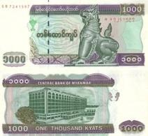MYANMAR 1000 Kyats  ND ( 2004 ) P 80 UNC - Myanmar