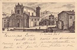 Cartolina Viaggiata 1948 Brescia Chiesa Di S. Faustino E Giovita Nel 1750 - Brescia