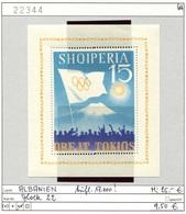 Albanien - Albanie - Albania - Michel Block 22 - ** Mnh Neuf Postfris - Olympiade Tokio 1964 - Albanien