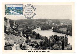 EURE - Dépt N° 27 = LES ANDELYS  1954 = CACHET FDC PREMIER JOUR N° 978 Vallée De La Seine - Maximum Cards