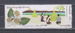 Myanmar 2019 Sand Pagodas Festival  Stamp 1v MNH - Myanmar (Burma 1948-...)