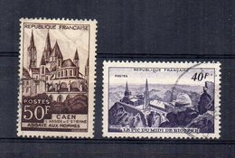 Francia - 1951 - Vedute Diverse - 2 Valori - Usati - (FDC15147) - Francia
