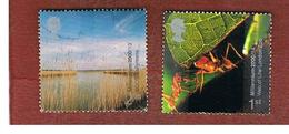 GRAN BRETAGNA.GREAT BRITAIN -  SG 2138.2139  -  2000 MILLENNIUM PROJECTS: LIFE & EARTH  - USATI - 1952-.... (Elisabetta II)