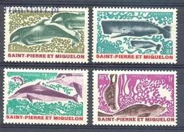 St. Pierre & Miquelon 1969 Mi 443-446 MNH ( ZS1 SPM443-446 ) - Mammifères Marins