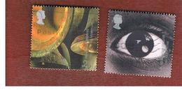 GRAN BRETAGNA.GREAT BRITAIN -  SG 2174.2175  -  2000 MILLENNIUM PROJECTS: SOUND & VISION  - USED - 1952-.... (Elisabetta II)