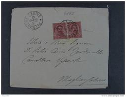 """4182 ITALIA Regno-1891-96- """"Stemma"""" C. 10 Coppia PALOMBARA SABINA>MAGLIANO SABINO (descrizione) - Marcophilia"""