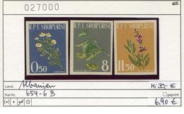 Albanien - Albanie - Albania - Michel 654-656 B - ** Mnh Neuf Postfris - Blumen Flowers Fleurs - Albanien