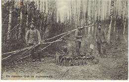 Ein Einsames Grab Im Argonnerwald - Postkaart/Carte Postale - Verstuurd In 1915 - Nr 72 Verlag Willy Koehler - 1914-18