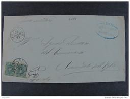"""4175 ITALIA Regno-1891-96- """"Stemma"""" C. 5 Coppia MARCARIA>CANNETO SULL'OGLIO (descrizione) - Marcophilia"""