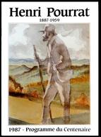 Henri POURRAT Programme Du Centenaire 1987 Préface Jean ANGLADE Illustrations Et Photos A. MONIER - Auvergne