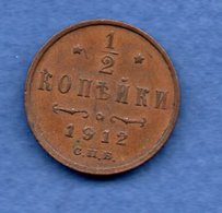 Russie  - 1/2 Kopeks 1912   --  Km # 48.1    état TTB - Russia