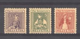 Suisse  :  Yv  154-56  * - Pro Juventute