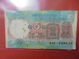 INDE 5 RUPEES VAR N°1 CIRCULER - Inde