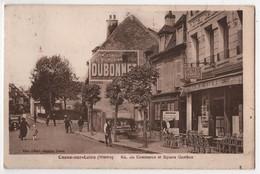 CPA 58 COSNE Sur Loire Hôtel De La Charrue Boulangerie Rue Du Commerce Pub Dubonnet - Cosne Cours Sur Loire