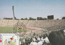 Cartolina  ,Romania -  Tematica Calcio ,  Annullo Speciale. Messico 1986. - Football