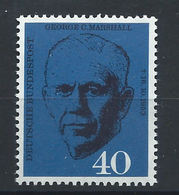 Allemagne - RFA N°217** (MNH) 1960 - Général Américain Georges C. Marshall - BRD