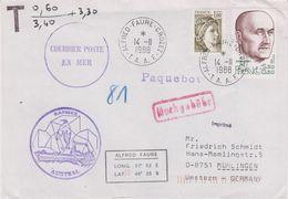 TAAF 1988 Sapmer Austral Cover Ca Alfred Faure Crozet 14.11.1988 (42467) - Franse Zuidelijke En Antarctische Gebieden (TAAF)