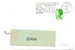 CHATEAU = 27 BRIONNE 1984 = FLAMME Type II = SECAP Illustrée  'Vallée De La RISLE /  Plan D'eau' - Oblitérations Mécaniques (flammes)