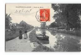 Villefranche-sur-Mer_Canal Du Berry _ Passeur Sur Bac_Etat Superbe. - Other Municipalities