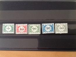 OC101/105** Strafportzegels Met Opdruk Eupen. - Guerre 14-18