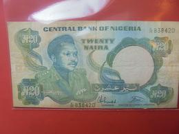 NIGERIA 20 NAIRA 1984 CIRCULER - Nigeria