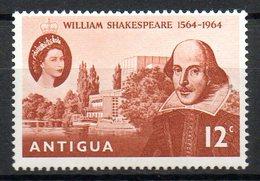 ANTIGUA. N°142 De 1964. Shakespeare. - Schriftsteller