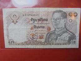 THAILANDE 10 BAHT 1980 CIRCULER - Thaïlande